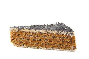 waffle cake isolated
