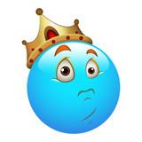Smiley Emoticons Face Vector - Unexpected King poster
