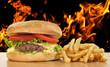 Barbacoa a base de hamburguesas.