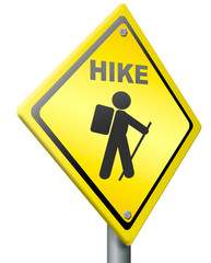 hike with backpack