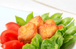 Crispy fritters with vegetables