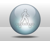 "Hovering Sphere Button ""Walking On Boardwalk"""