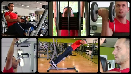 fit man doing workout at the gym