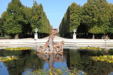 Fountain in Schoenbrunn park, Vienna, Austria.