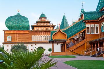 Wooden palace in Kolomenskoye, Moscow, Russia