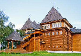 Russian wooden mansion