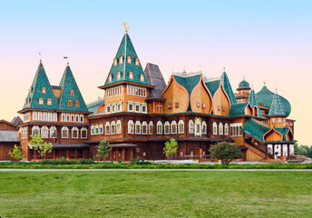 The wooden palace of Tsar Aleksey Mikhailovich in Moscow,