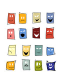 expressions mimic set of mask poster