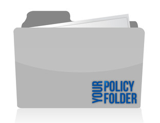 your policy folder illustration design