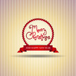 Ribbon vector circle with Merry Christmas