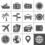 Travel and tourism icon set. Simplus series