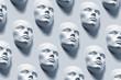 Anonyme Gesichter - Kunstausstellung