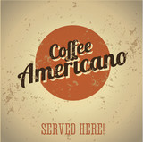 Vintage metal sign - Coffee Americano