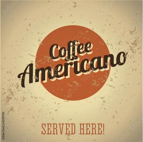 Fototapeta Vintage metal sign - Coffee Americano