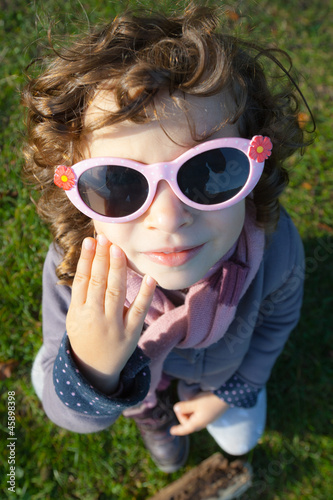 Stylish little girl