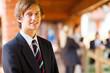 high school boy closeup portrait