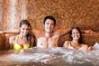 Friends relaxing in a spa