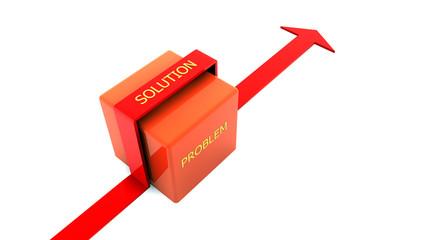 Flecha simbolizando solucion