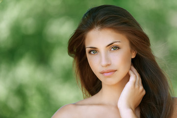 beautiful dark-haired young woman