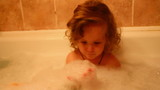 little girl bath