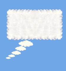 Speech bubble clouds