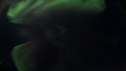 Green Northern Lights - Solar storm