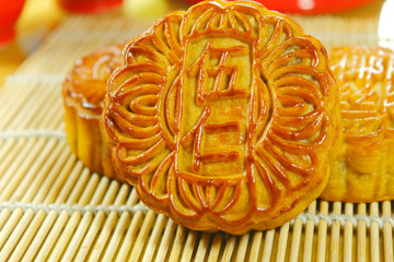 moon cake for chinese mid autumn festival