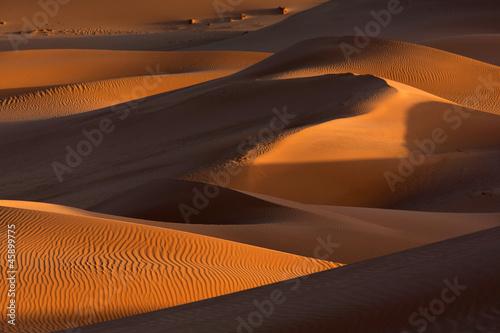 Fotobehang Algerije Sand dunes, Sahara desert