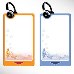 Headphone set - music menu