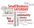 Small Business Sat, USA promotion after Thanksgiving, Word Cloud