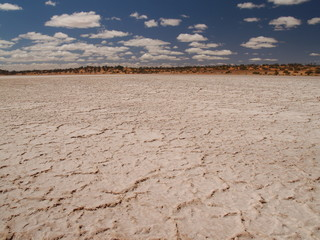 Salt lake in Australia