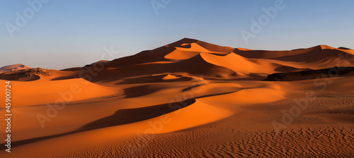 Panorama of sand dunes, Algeria