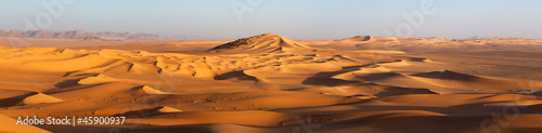 Aluminium Algerije Sunset in the Sahara desert
