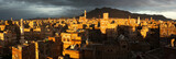 Panorama of evening Sanaa, Yemen
