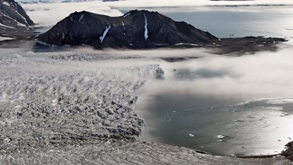 Fog over the glacier - Arctic, Svalbard