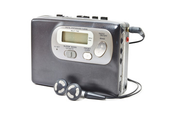 Vintage audiotape walkman