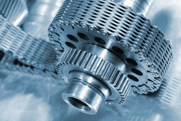 gear wheels and chain, aerospace parts and engineering