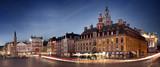 Grand place de Lille en début de soirée - France