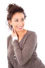 Junge Frau mit positiver Ausstrahlung