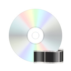 Video compact disk icon. Vector illustration