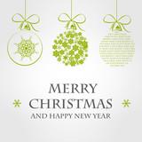 Fototapety green merry christmas template