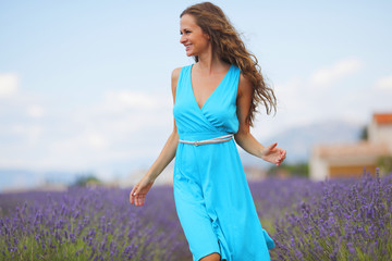Woman on a lavender field