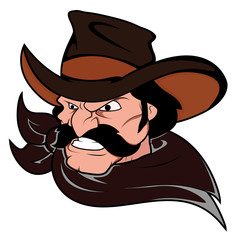 Cowboy Horse Rider Mascot