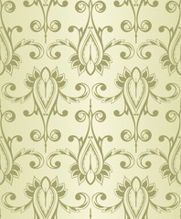 Vector Seamless Vintage Wallpaper Pattern