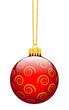 Weihnachtskugel, Weihnachtsschmuck, Deko, Rot, Weihnachten, 3D