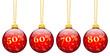 Weihnachtskugeln, Rabatt, 50, 60, 70, 80, Prozent, %, Angebot