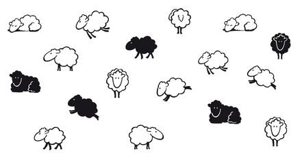 Schafe s/w