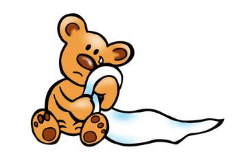 Teddy traurig
