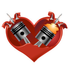 cuore bicilindrico vector