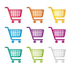 Einkaufswagen - Cart - verschiedene Farben